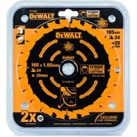 DeWALT DT10300 Extreme, 165х20 мм 24 зуба по дереву