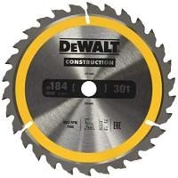 DeWALT DT1940 CONSTRUCTION, 184х16 мм 30 зубов по дереву с гвоздями
